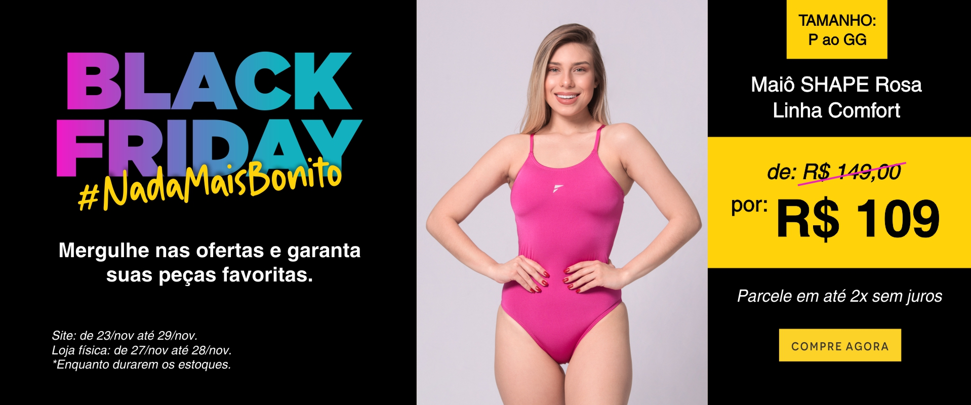 Maiô Shape 1 - Black Friday